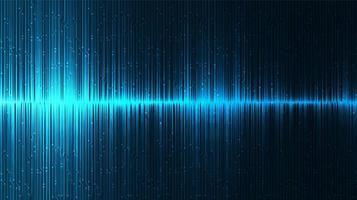 blauwe equalizer digitale geluidsgolf achtergrond vector