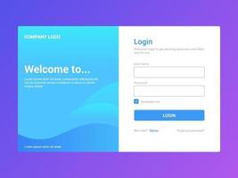 loginpagina-ontwerp voor nieuwe gebruiker vector