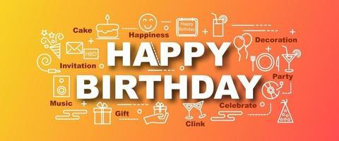 gelukkige verjaardag vector trendy banner