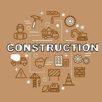 constructie minimale overzichtspictogrammen vector