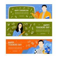 gelukkige lerarendag banner vector