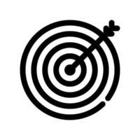 doelpictogram overzicht. het item van set-specifieke marketing, evenals aanverwante goederen en diensten. onderbroken lijnen vector. vector