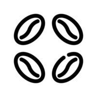 koffiebonen schetsen pictogram vector