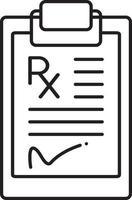 lijn pictogram voor recept vector