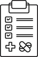 lijn pictogram voor medische tests vector