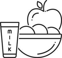 lijn pictogram voor voedsel voor de patiënt vector