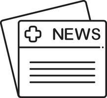 lijnpictogram voor medisch nieuws vector