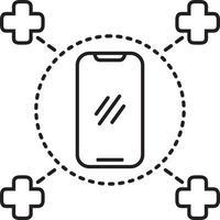 lijnpictogram voor medische dienst op afroep vector