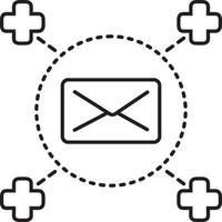lijnpictogram voor medische post vector