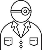 lijn pictogram voor KNO-laryngoloog vector