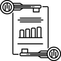 lijnpictogram voor effectieve trefwoorden vector