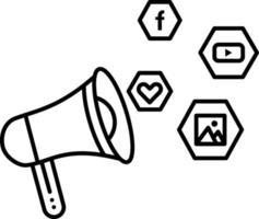 lijnpictogram voor sociale campagne vector