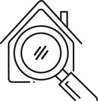 lijn pictogram voor zoeken naar onroerend goed vector