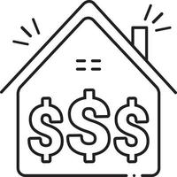 lijn pictogram voor investeringen vector