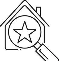 lijnpictogram voor beste huis vector