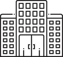 lijn pictogram voor onroerend goed bedrijf vector