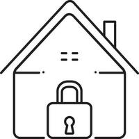 lijn pictogram voor binnenlandse veiligheid vector