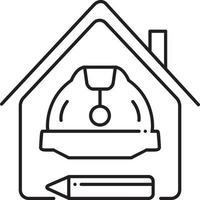 lijn pictogram voor constructie vector