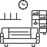 lijn pictogram voor meubelen vector