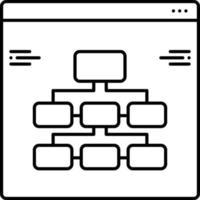 lijnpictogram voor informatiearchitectuur vector