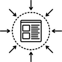 lijnpictogram voor specificatie vector