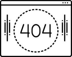 lijnpictogram voor 404 vector
