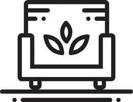 lijn pictogram voor sofa spa vector