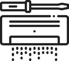 lijnpictogram voor ac-service vector