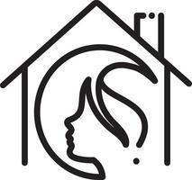 lijn pictogram voor salon thuis vector