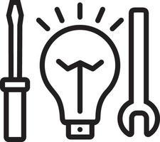lijn pictogram voor elektrische service vector