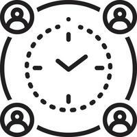 lijnpictogram voor de betekenis van deadline vector