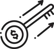 lijnpictogram voor sleutel tot succes vector