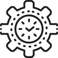 lijnpictogram voor tijdbeheer vector