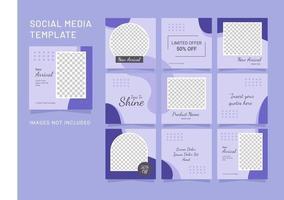sociale media puzzel mode vrouwen post-sjabloon vector