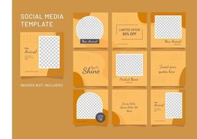 sociale media mode vrouwen post sjabloon puzzel vector