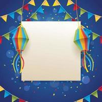 festa junina achtergrond sjabloon vector