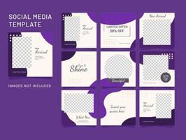 sociale media sjabloon puzzel post mode vrouwen vector