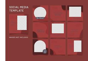 sjabloon feed puzzel mode vrouwen sociale media vector