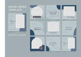 sociale media feed mode vrouwen sjabloon puzzel vector