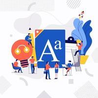 teamwerk van content creator vector