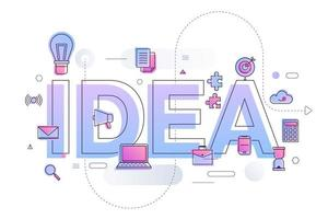 bedrijfswoord idee vector