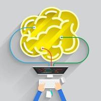constructie gebouw hersenen vector