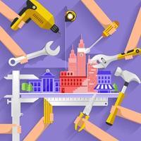 bouw gebouw illustreren vector