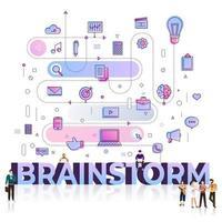 zakelijke woord brainstorm vector