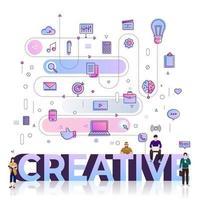 zakelijke woord creatief vector