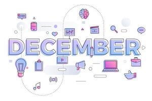 typografie maand december vector