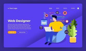 webdesigner en ontwikkelaar vector