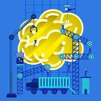 hersenen idee bouwen vector