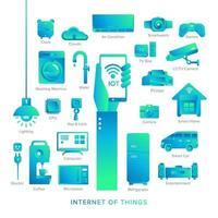 icon set internet van ding vector