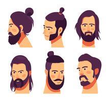 hipster vector set